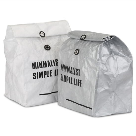 Wholesale OEM Custom Logo Eco-Friendly Recycle Tyvek Cosmetic Bag Thermal Lunch DuPont Cooler Bag