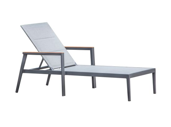 Aluminum Frame Lounge with Double Layer Textilene Fabric