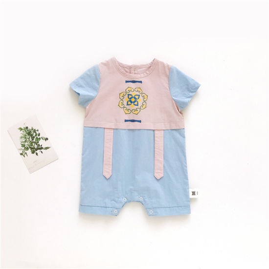 Colorblock Children's Romper Fashion Clothing Baby Clothes