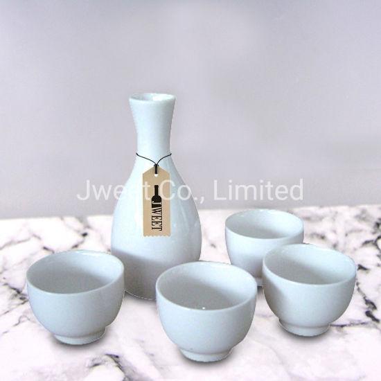 375ml Decal Printing Ceramic Sake Bottle Set
