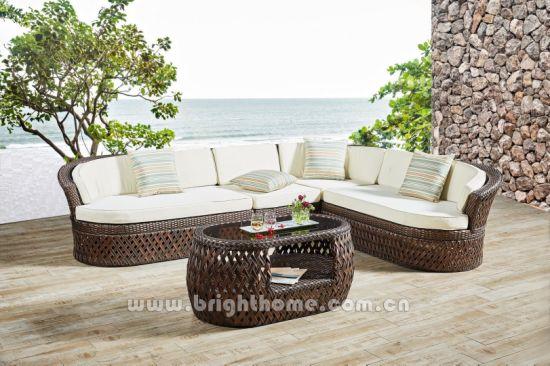 Hand Craft Outdoor Wicker Sofa Set Furniture Dubai Series