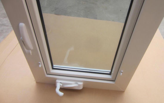 Veka Profile Hand Crank Awning Window With Winder Open Outside PVC Windows