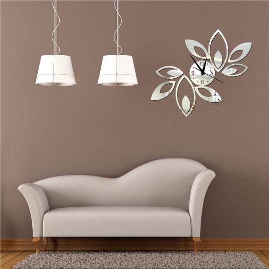Hanging Clock Diy Acrylic Mirror Bell Bedroom Decorated Wall Clocks