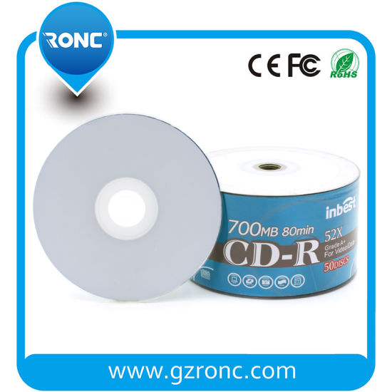 image regarding Printable Blank Cds identified as [Very hot Solution] Wholesale Low-cost White Inkjet Printable Blank CD-R 700MB 80min 52X