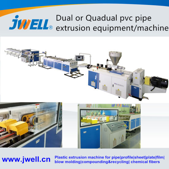 Jwell CPVC / UPVC / PVC Pipe Making Machine HDPE PP Pipe Extruder