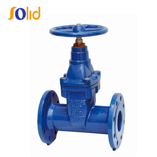 DIN 3352 F5 Flanged Resilient Gate Valve with Non Rising Stem