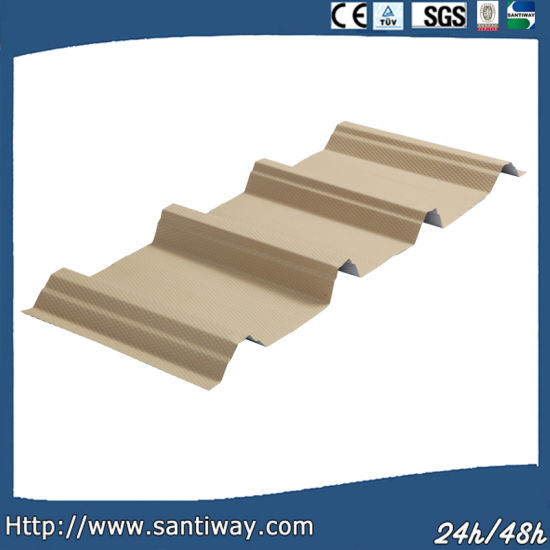 China Factory Curved Roof Sheets in Red Color or Galvanized Building Material