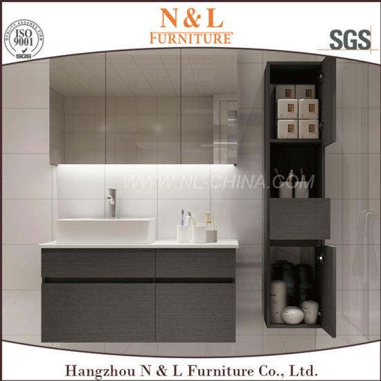 N L Modern Style Laminate Bathroom Cabinet Vanity