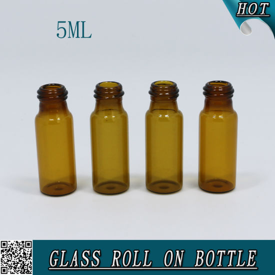 5ml Amber Cosmetic Glass Roll on Tube Bottle for Fragrance Oil pictures & photos