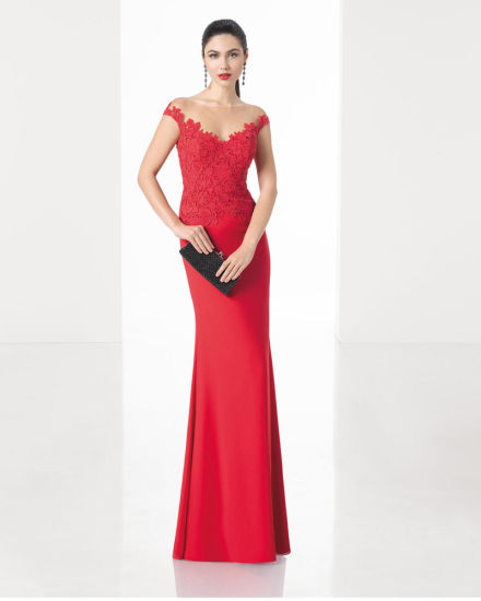a3c0bada387b4 Modesty Lace Bodice Shawl Sollar in The Heart Evening Dress with Cotton  Georgette Skirt