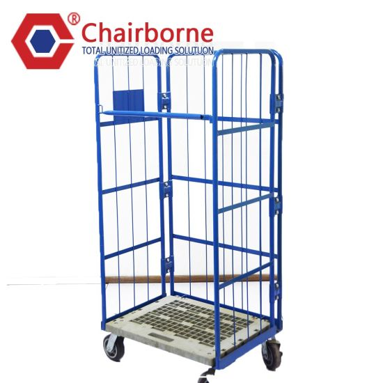 Warehouse Roll Cage Logistics Folded Cargo Steel Trolley Cart