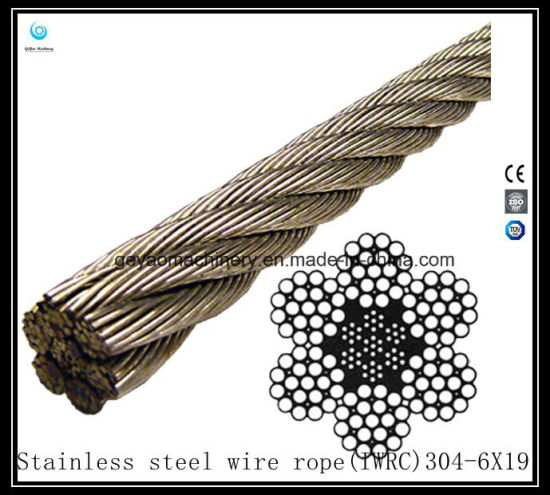China 19X7 Iwrc Bright Wire Rope Eips (Rotation Resistant) - China ...
