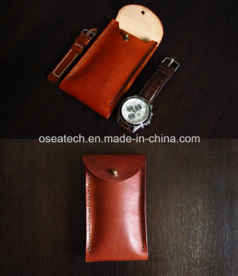 Custom Logo Leather Watch Pouch pictures & photos