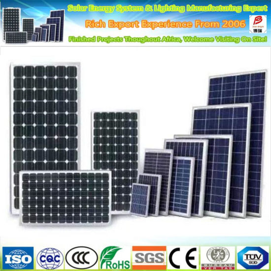 LED Street Light Solar Panel 20W 50W 60W 80W 100W 110W 12V Small Panel Solar for Traffic Light