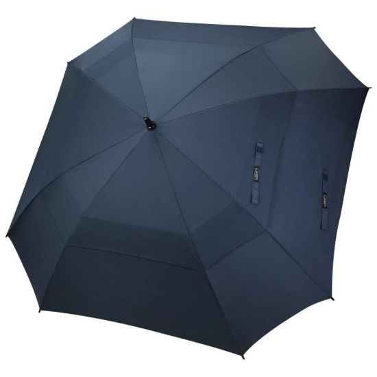 Extra Large Golf Umbrella Double Canopy Vented Square Umbrella Windproof Automatic Open 62 Inch Oversize Stick Umbrella for Men (BR-ST-617)