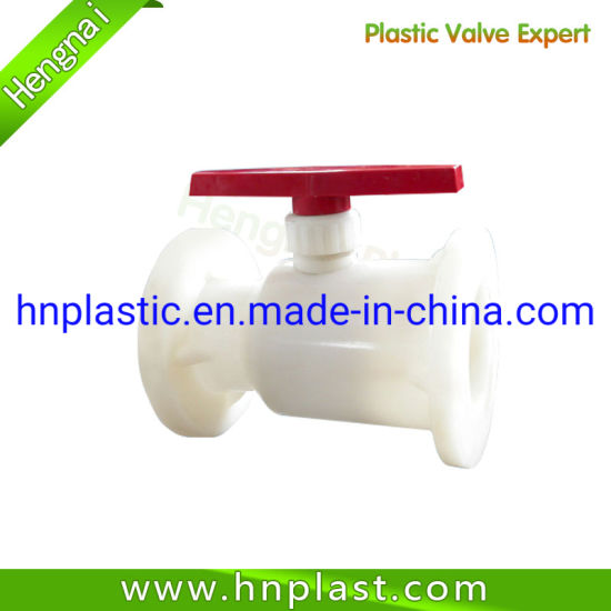 Flange Connection Type UPVC/PVDF PP Material Flange Plastic Ball Valve