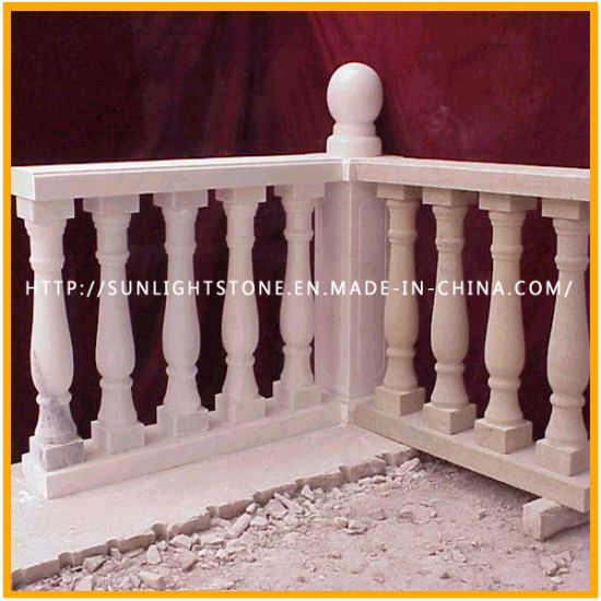 White Marble/Stone/Granite Railing Handrail Stone Baluster Balustrade for Stair pictures & photos