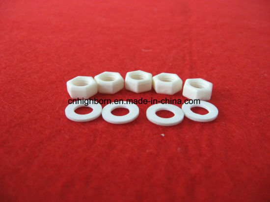Standard Size Hexagonal and Flat Head M3 M4 M5 M6 Alumina Ceramic Screw pictures & photos