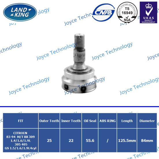 Factory Auto Spare Parts Outer CV Joint CT-001 for Citroen Bx 309/305/405/GS
