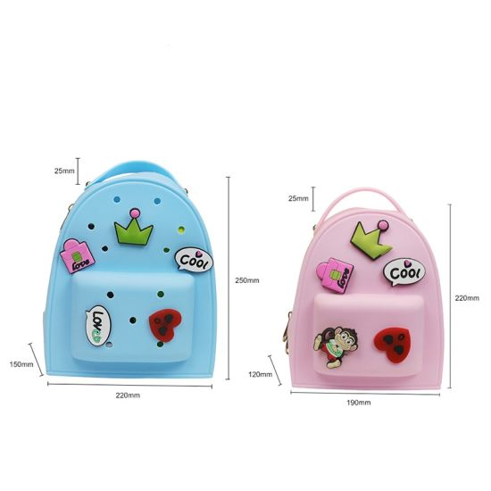 Customizable 3D Cute Candy Backpack Kids School Bags for Silicone Children Backpacks