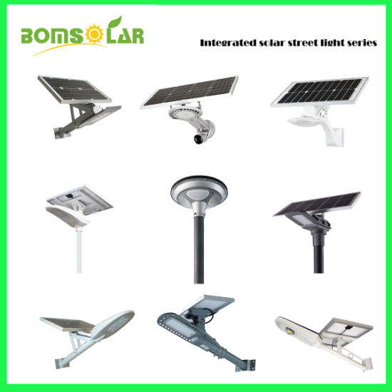 All in One Solar LED Street Light 24W 36W with CCTV Camera, Integrated Solar Street Lighting Outdoor, Solar LED Garden Light for Street, Solar Road Light
