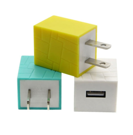 5V 1A Us Plug AC Power Adapter Home Travel USB Wall Charger for iPhone 7 7 Plus 6 6s 5s Square Charger