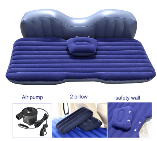 Flocked PVC Inflatable Travel Airbed for Car or Camping pictures & photos