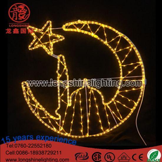 LED Lighting Ramadan Decorations Light for MID East Eid Holiday Rope Lights