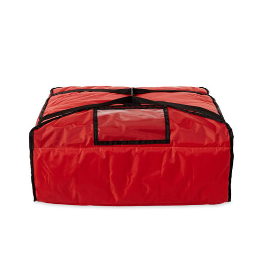Red Polyester Insulated Pizza/Food Delivery Bag 16″ - 18″ Professional Large Pizza Delivery Bag- Moisture Free1 18 X 18 X 10