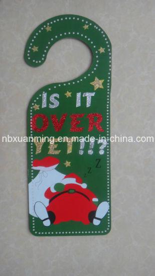 China Christmas Door Knob Hanger With Glitter Xm C 1079 Christmas