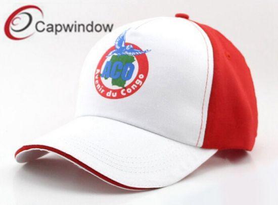 Customized Baseball Cap with Screen Printing Logos on Snapabck Hat