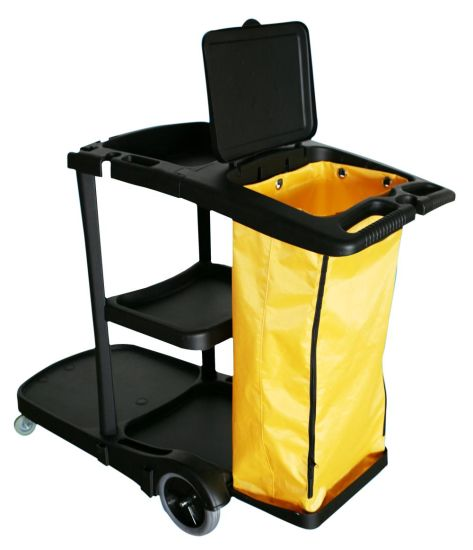 Cleaning Cart Cleaning Trolley Plastic Cleaning Cart pictures & photos