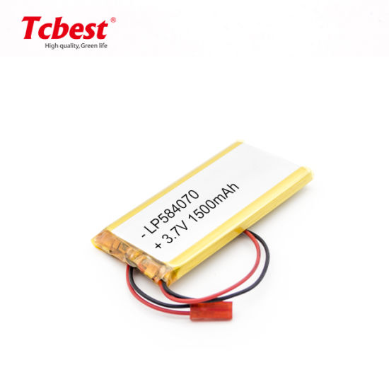 Drone Lithium Polymer Battery 3.7V Li-Po 584070 1500mAh for Golf Cart with Ntc