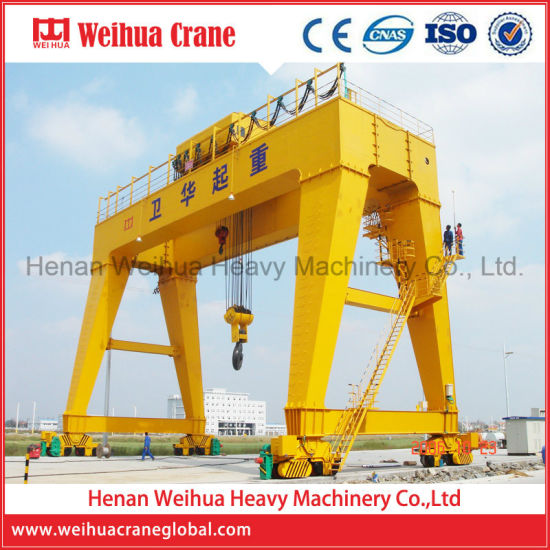 New Rail Mounted Double Girder Gantry Crane Price 10 Ton pictures & photos