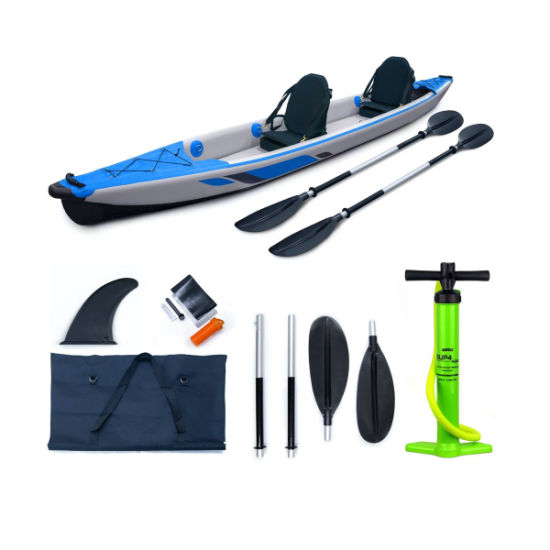 Inflatable Drop Stitch 4.70m Double Seater Fishing Tandem Kayak