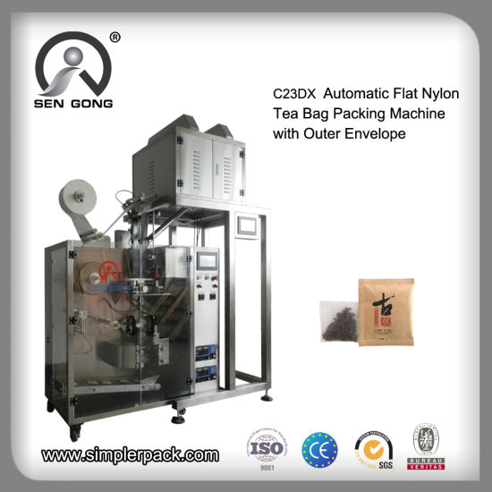 Wholesale Pillow Nylon Pouch Tea Bag Filling Packing Machine with Outer Bag