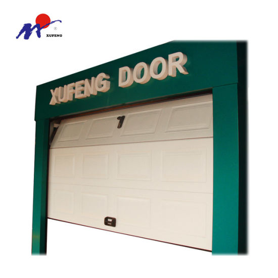 China Security Wooden Sectional Double Garage Door With A Stylish