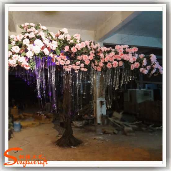 China Hot Sale Wedding Peony Artificial Flower Tree For Indoor Or