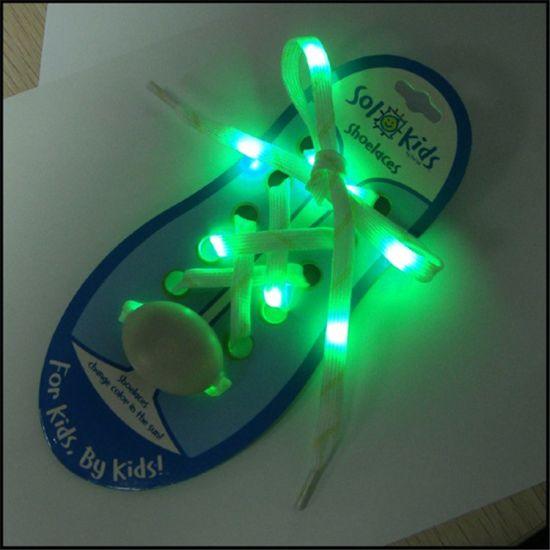 Wholesale Fashionable Custom Logo LED Flat/Round Nylon/Polyester Shoelace
