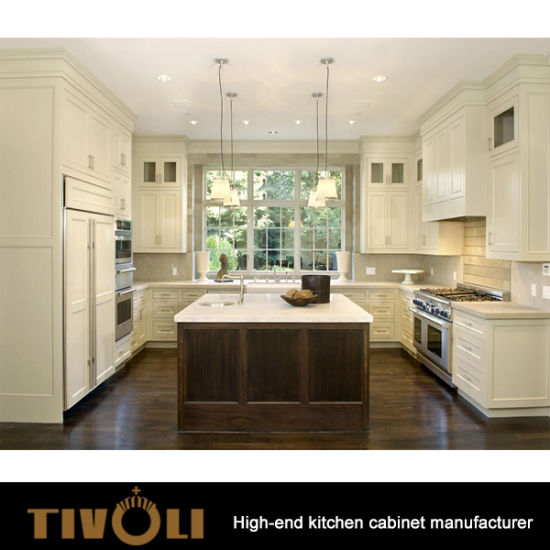 White Painting Solid Wood Kitchen Cabinets With Shaker Style Tv 0103