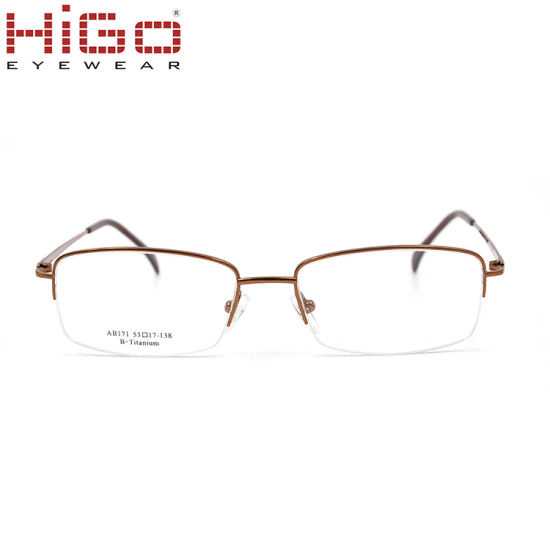 China Half Rim Titanium Glasses Super Flexible Prescription Eyeglass ...