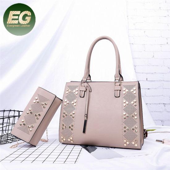 Trend Ladies Rivets Handbags Women Shopping Bag with Purse Sh728. Get  Latest Price 23d7b67e5c595