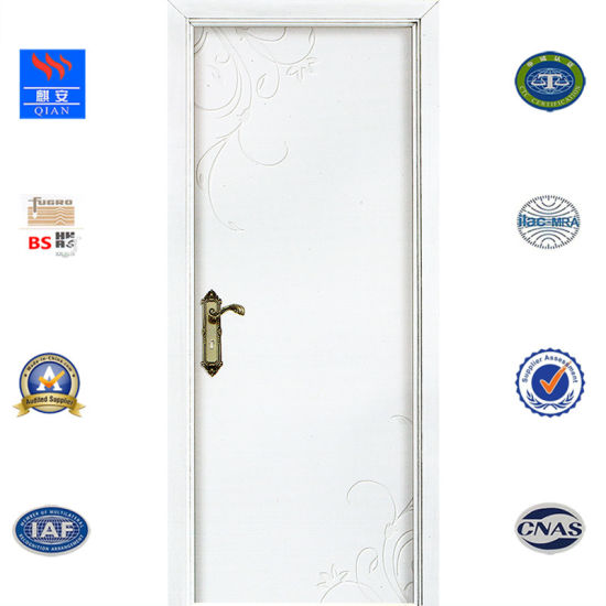 Customized White Color Solid Wood Interior Door For Villa Rooms Made