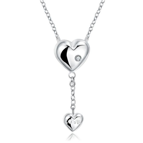 26984c435318 Wholesale Top Selling Simple Vogue Jewelry Romantic Gift Double Heart Pendant  Necklace Jewelry