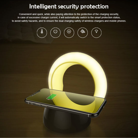 New Led Night Light Wireless Charging Small Desk Lamp Multi Funtion Charger Phone Mount Holder Fast