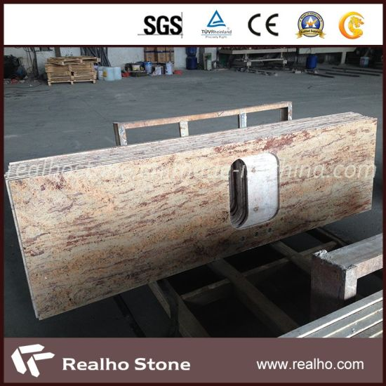 Orlando Yellow Gold Granite Kitchen Countertops For Us Market Pictures Photos