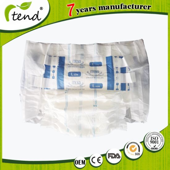 Wholesale Overnight Absorbency Disposable/Adult Nappy/Adult Brief/Magic Tape Velcro Adult Diaper