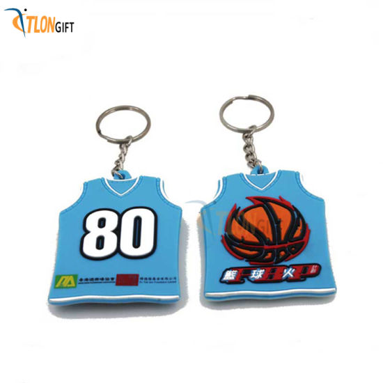 Youth Style Creative High-Imitation Fashion Mini Basketball Clothes PVC Key Chain