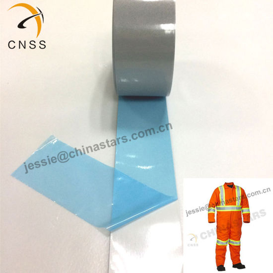 High Quality Light Flame Retardant Warning Reflective Tape Heat Transfer Film for Fr Coverall