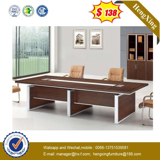 Pvoc No Voice Grey Patent Curve Conference Table pictures & photos